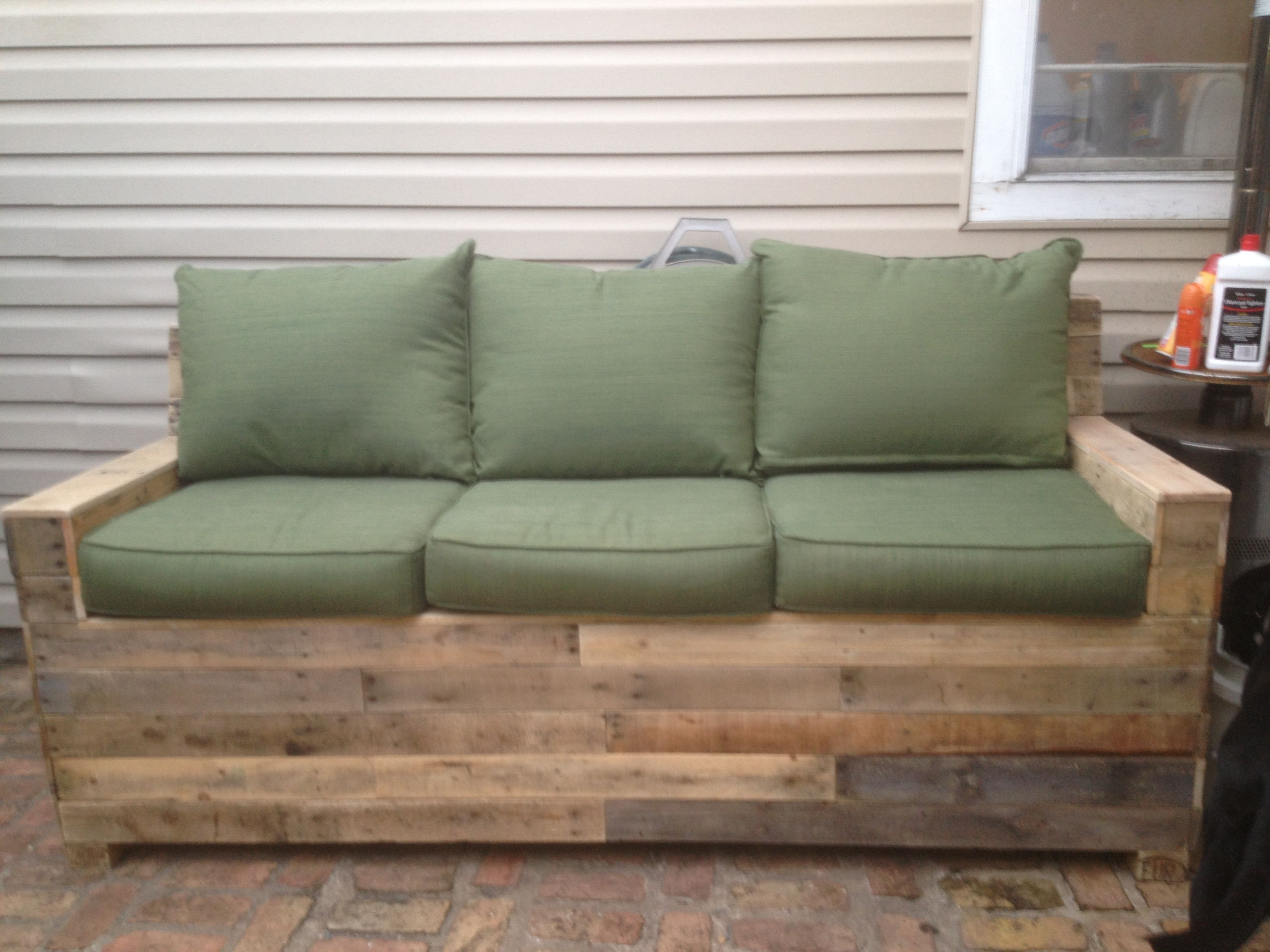 Pallet Sofa. For Sale $600   Reclaimed Wood Furniture from ...