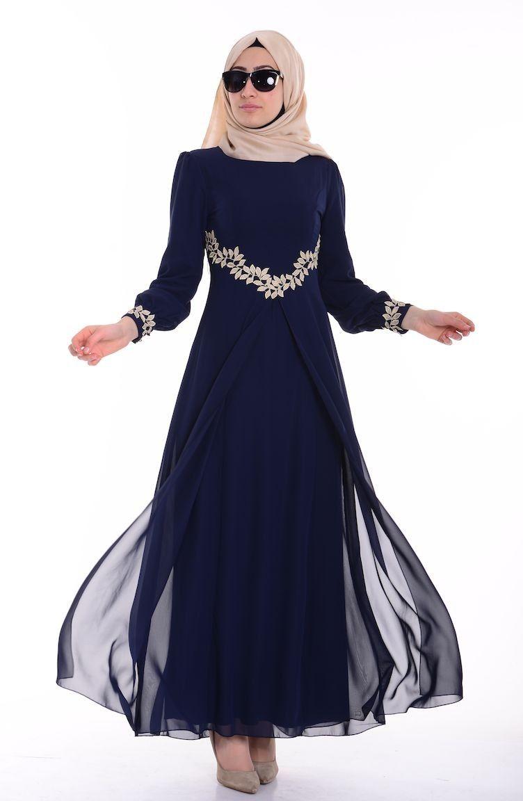 Cicekli Elbiseler Islemeli Elbiseler Ve Birbirinden Farkli Tesettur Elbise Modellerine Bircok Farkli Renk Secenegiyle Sah Sifon Elbise Elbise Elbise Modelleri