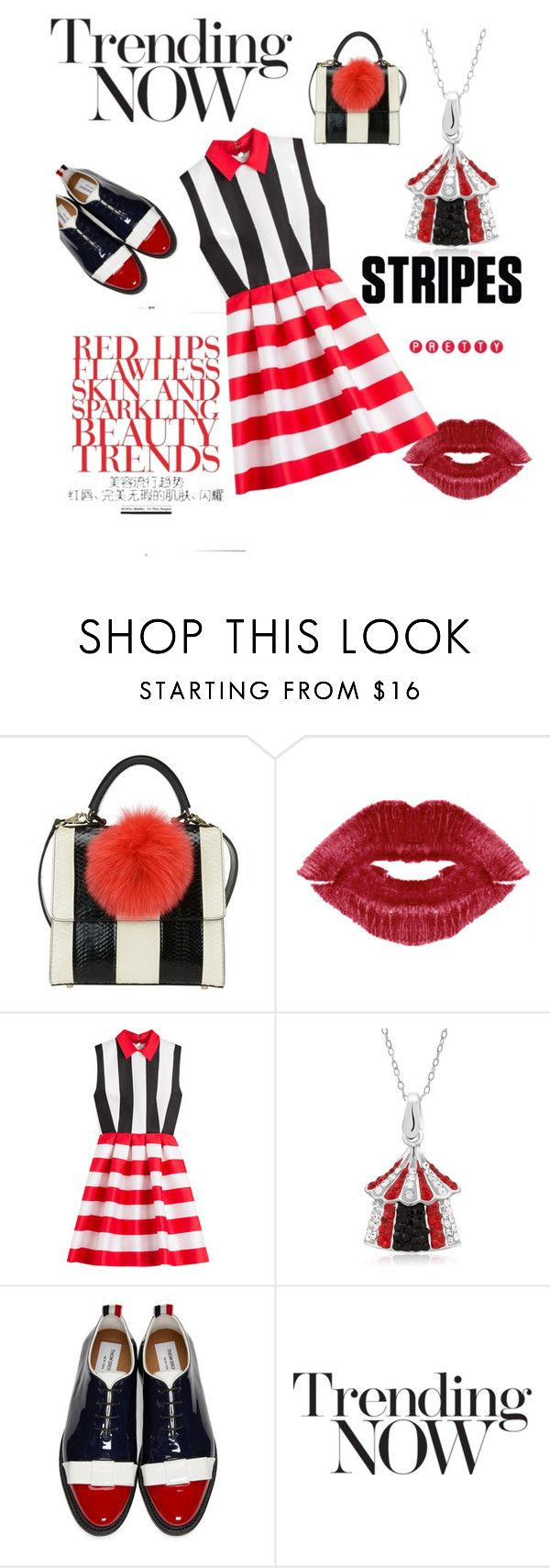 """""""Untitled #1143"""" by cranetattoo ❤ liked on Polyvore featuring Les Petits Joueurs, Zuhair Murad and Thom Browne"""