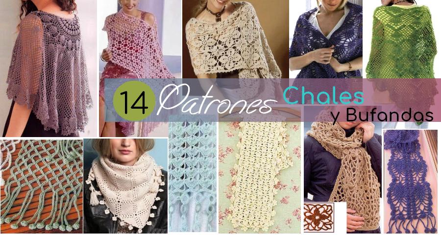 14 Encantadores Patrones de Chales y Bufandas