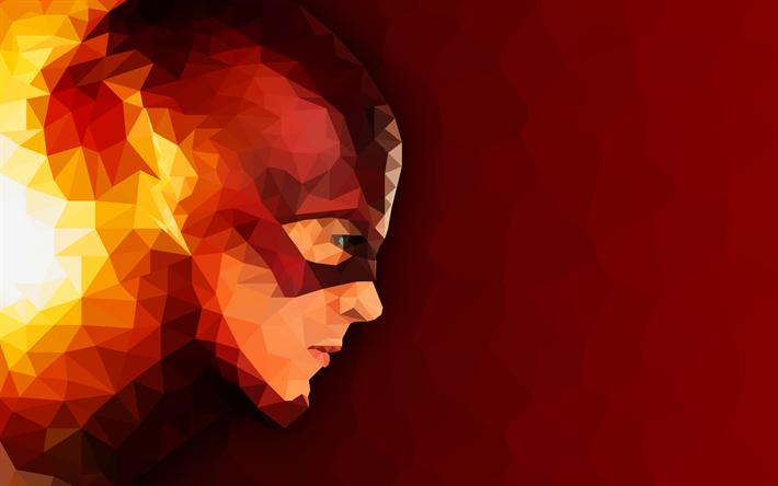 T l charger fonds d 39 cran flash de l 39 art de super h ros de la mosa que le flash abstrait - Flash le super heros ...