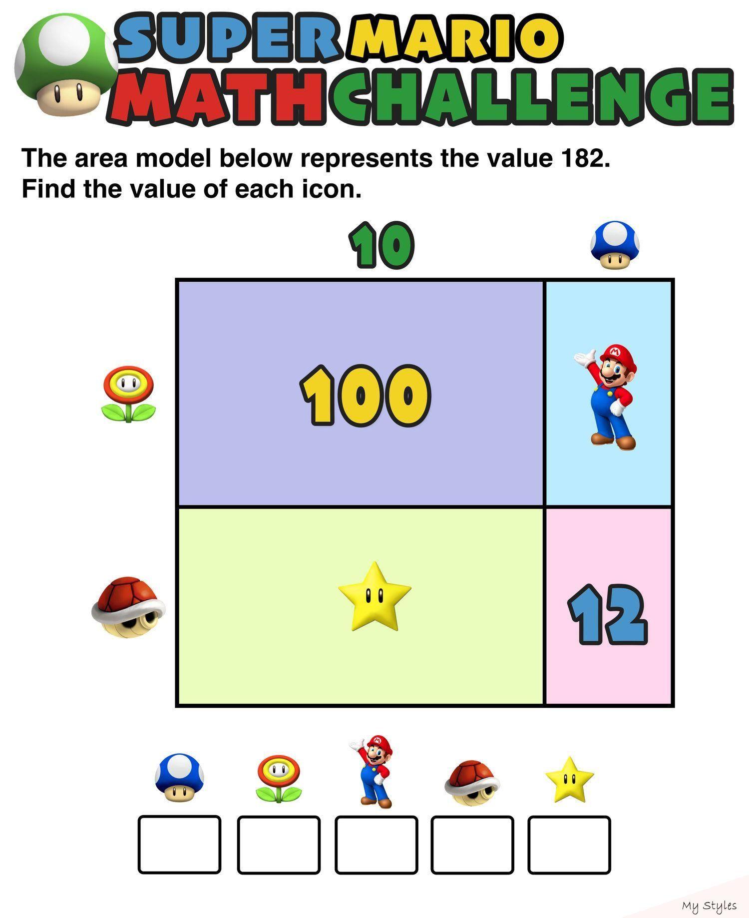 Have You Seen These Free Super Mario Math Puzzles Mashup Math Math For Kids Maths Puzzles Math Visuals Math [ 1838 x 1500 Pixel ]