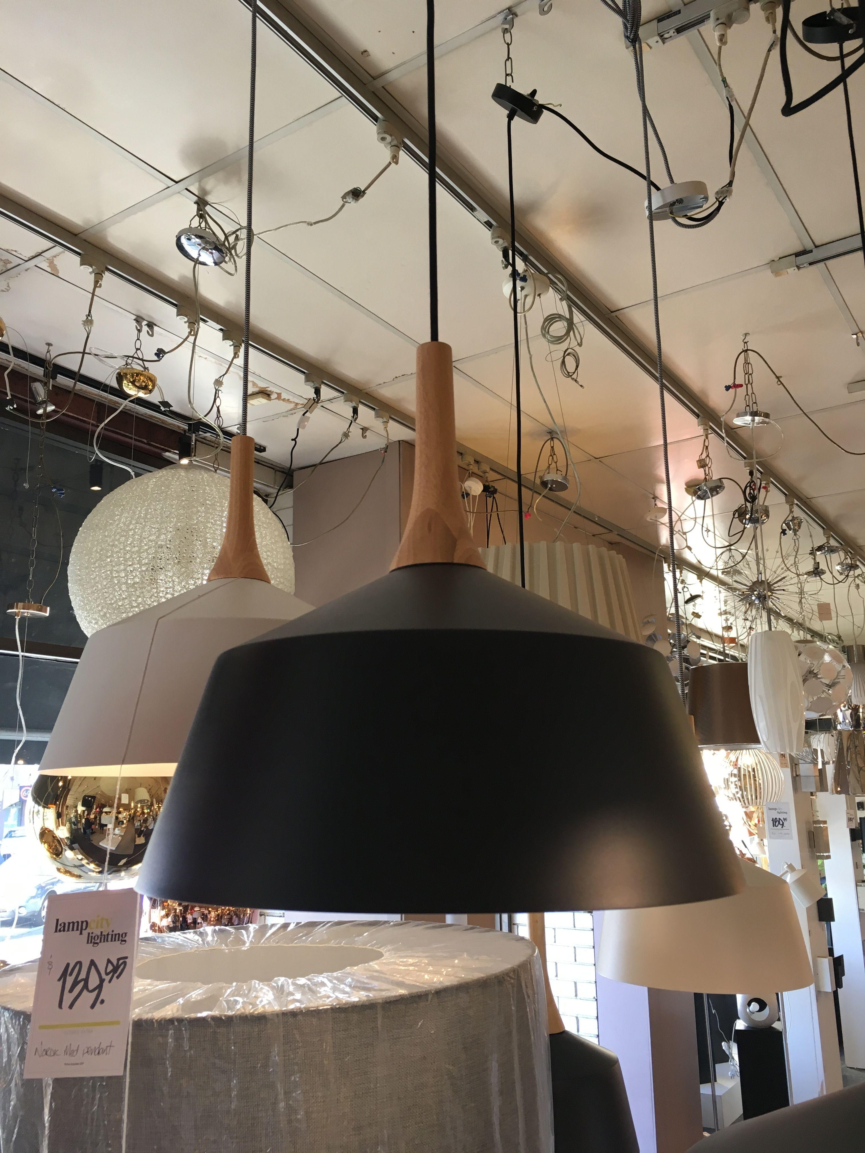Nordic Medium Black Timber From Lamp City Lighting For