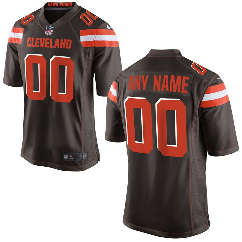 2bffec514 Cleveland Browns Nike Custom Game Jersey - Brown