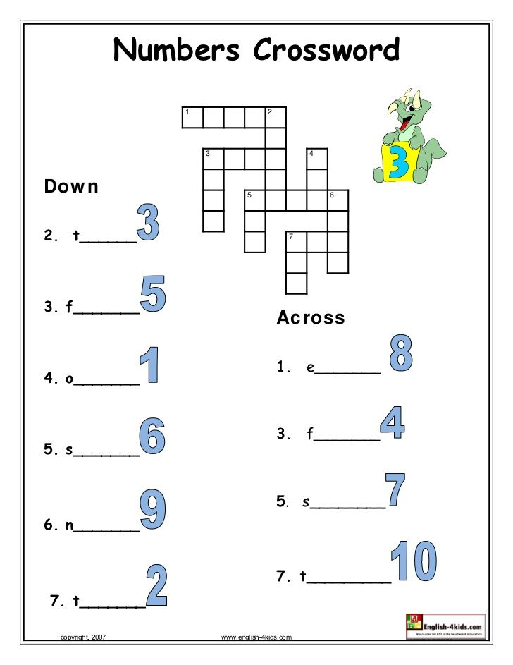 numbers crossword - Google Search