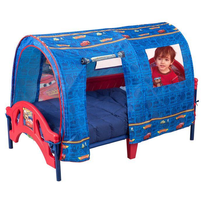 Disney Cars Toddler Bed with Tent Disney Tinkerbell Fairies Toddler Bed with Canopy. Disney Princess Toddler Bed with Canopy. - Corvette Convertible Toddler ...  sc 1 st  Pinterest & Delta Children Disney Pixar Cars Tent Toddler Canopy Bed u0026 Reviews ...