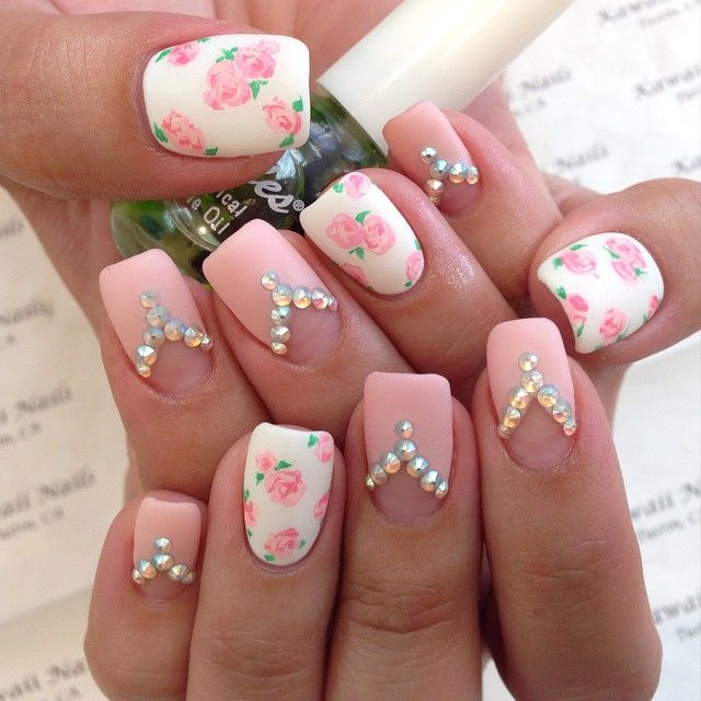 Flowers | Nails | Pinterest | Flowers and Kawaii nails
