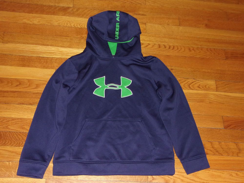 dde37111e5 UNDER ARMOUR LOOSE FIT NAVY BLUE HOODIE BOYS LARGE 14-16 EXCELLENT ...