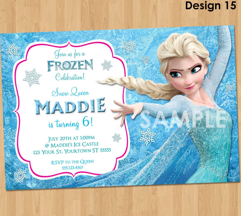 Frozen Party Invitation Ideas Elsa Frozen Birthday Invitations