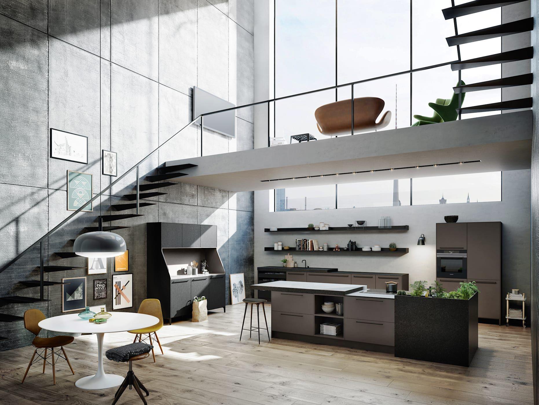 Urbanes Wohnen Industriell Von Kde Kuchen Design Essen Industrial Wohnen Schoner Wohnen Und Urban Wohnen