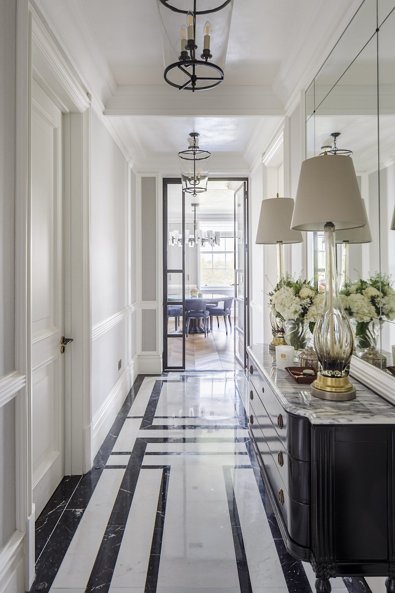 Marble Entryway In Mayfair By Gunter Amp Co Interiors Hall