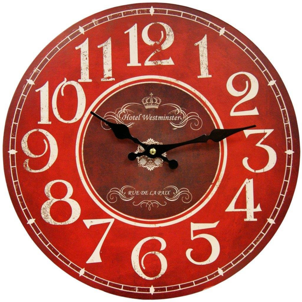 pin by tena mason on kitchen ideas red wall clock large on wall clocks battery operated id=65914