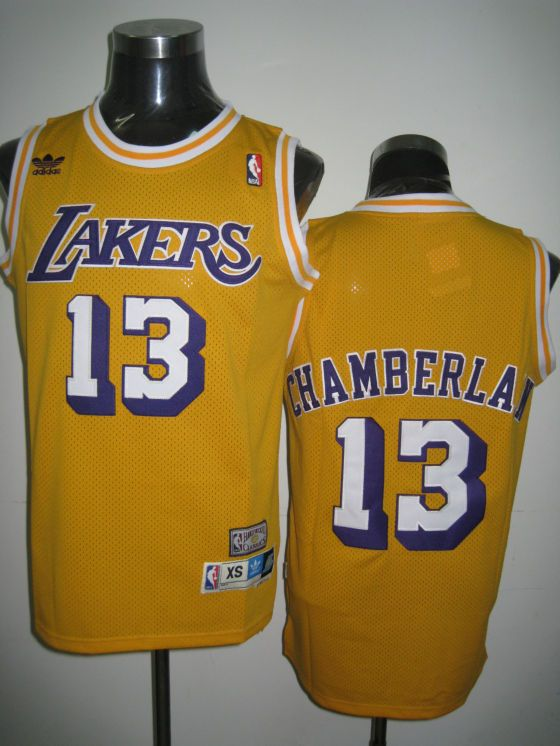 500c0aed844 Adidas NBA Los Angeles Lakers 13 Wilt Chamberlain Swingman Yellow Throwback  Jersey