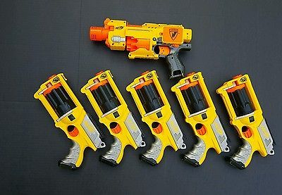 LOT Of 5 NERF N-STRIKE MAVERICK REV-6 Dart Gun Blaster Party Pack Awesome  Lot