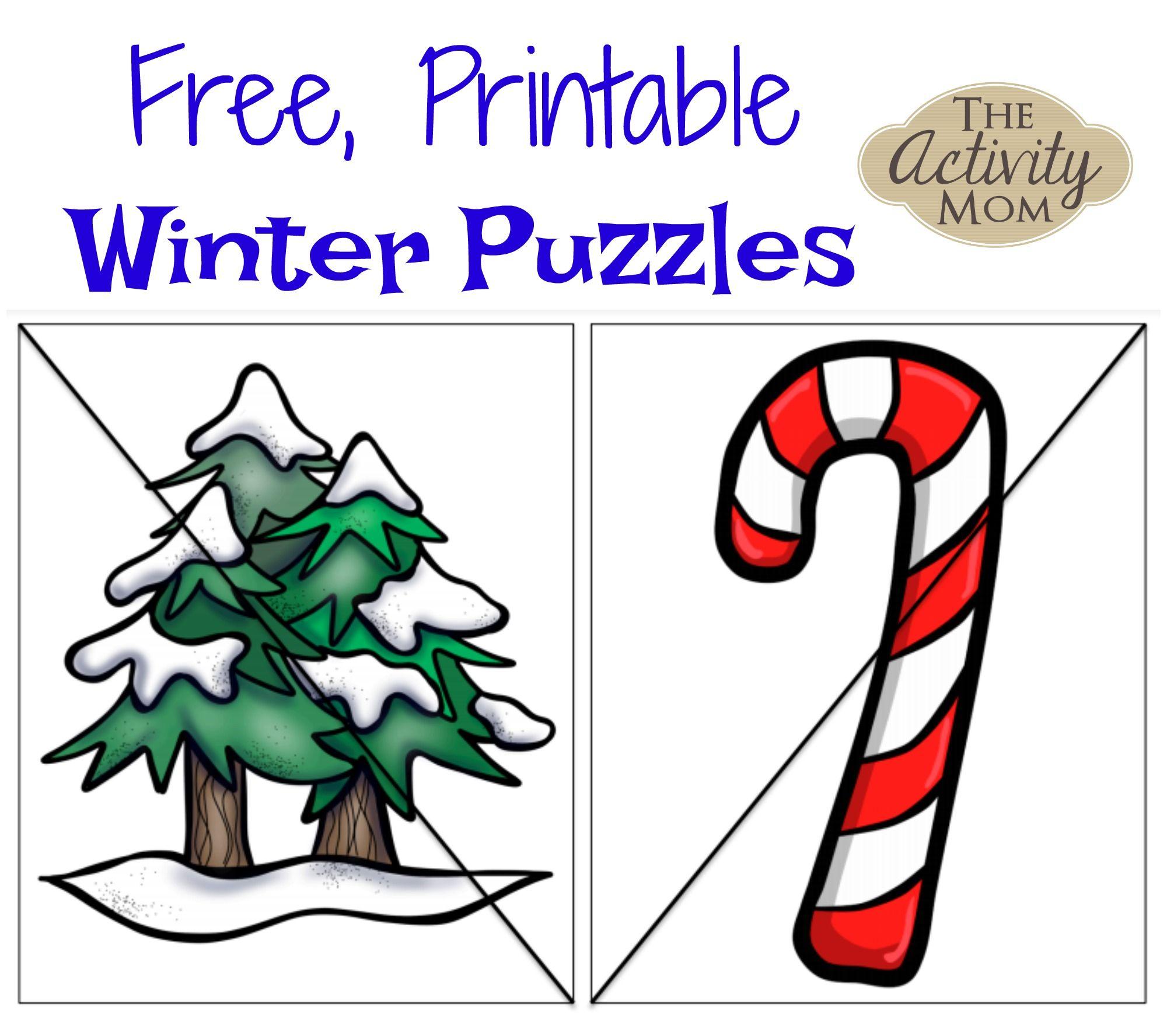 Free Printable Winter Puzzles | Pinterest