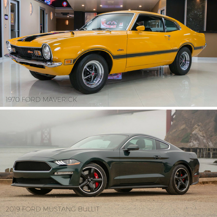 Tbt 1970 Ford Maverick Vs 2019 Ford Mustang Bullit Ford