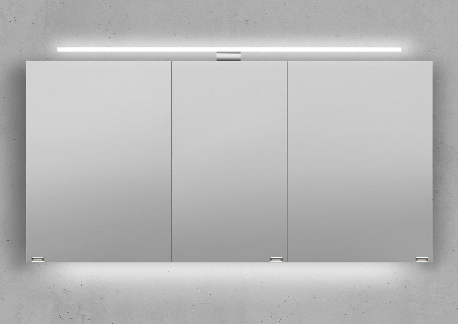 Designbaeder Com Spiegelschrank Led Aufbauleuchte Badspiegelschrank