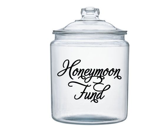 Honeymoon Fund Jar Decal Perfect By Moosemountaindecals On Etsy