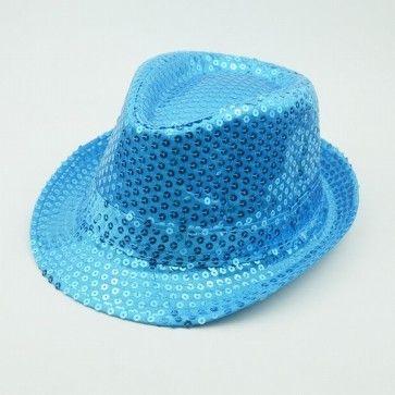 Sky Blue Kids Summer Party Hat - Designer Children Fedora Hat 04db113e7c6