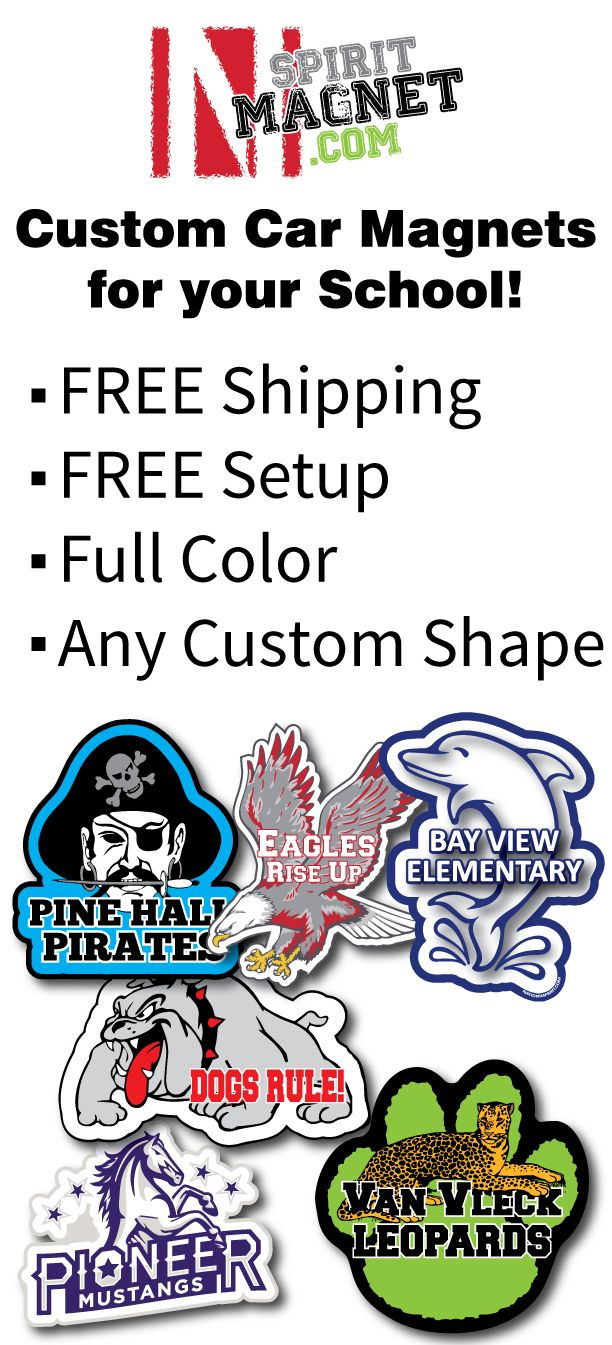Nation Imprint Promotional Products Car Magnets School - Custom car magnets for schools