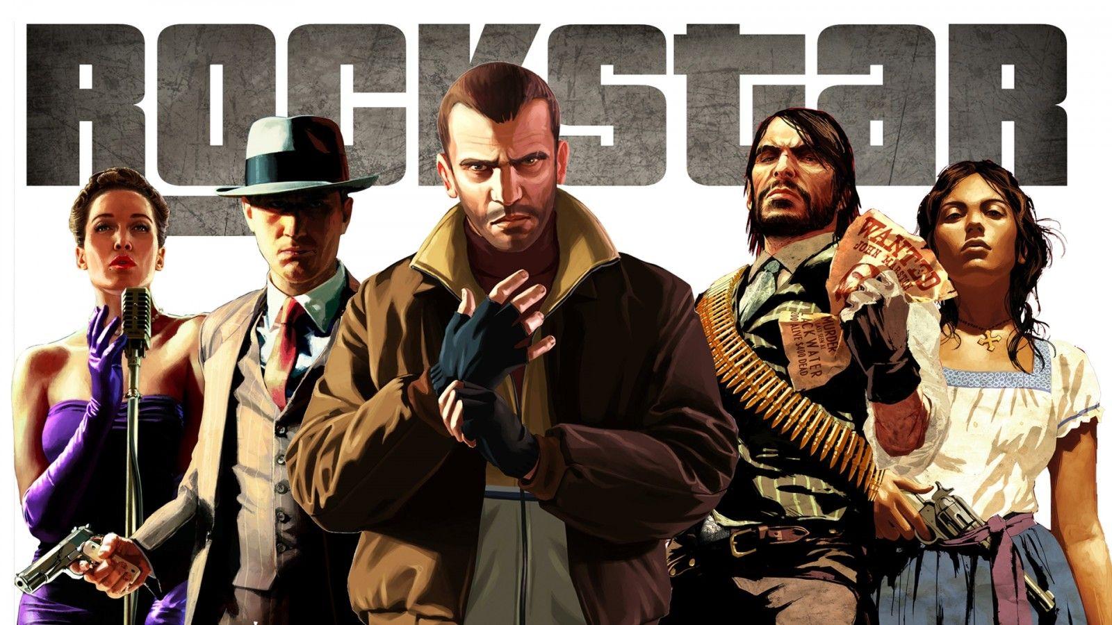 GTA Grand Theft Auto rockstar characters faces Niko Bellic
