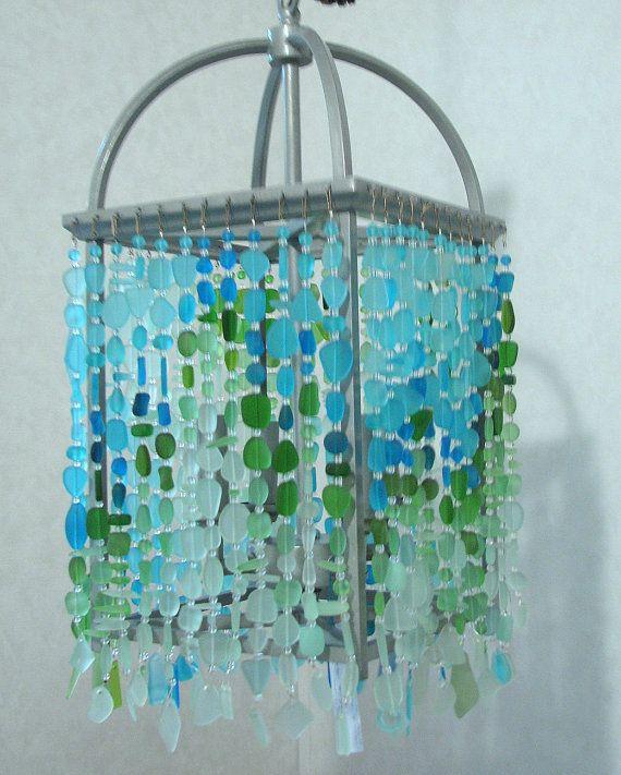 Sea Glass Chandelier Coastal Mission By Coastalradiancelites Sea Glass Chandelier Glass Chandelier Sea Glass Colors