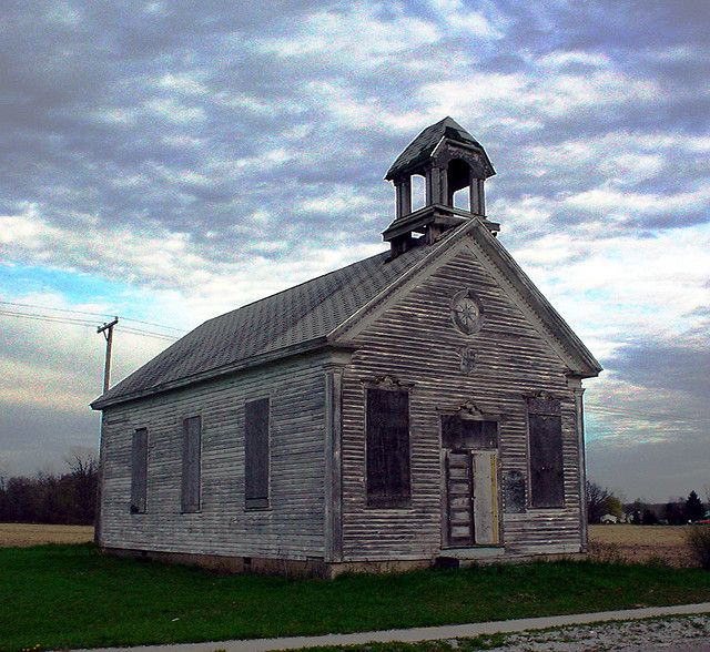 Clyde Town Hall Old Abandoned Buildings Old School House Country Church
