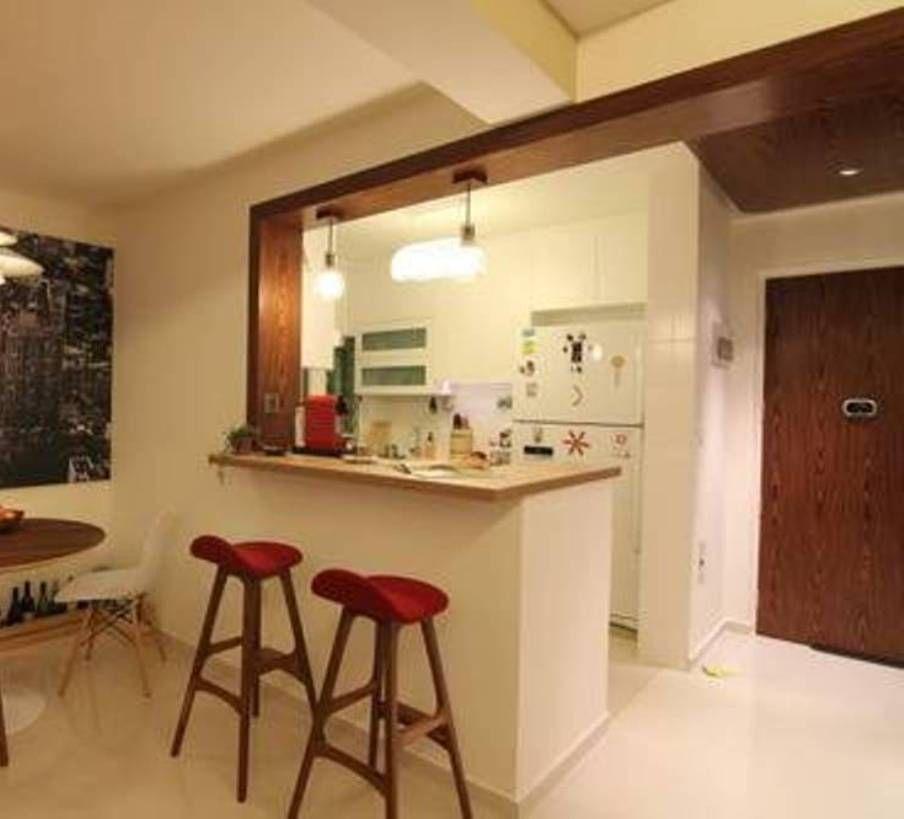 Kitchen Bar Designs Walnut Cabinets Counter Design For Small Areas Questa Cucina E Affianco All Ingresso