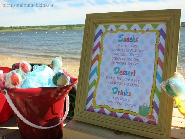 Beach Birthday Party Ideas Beach Birthdays and Party time