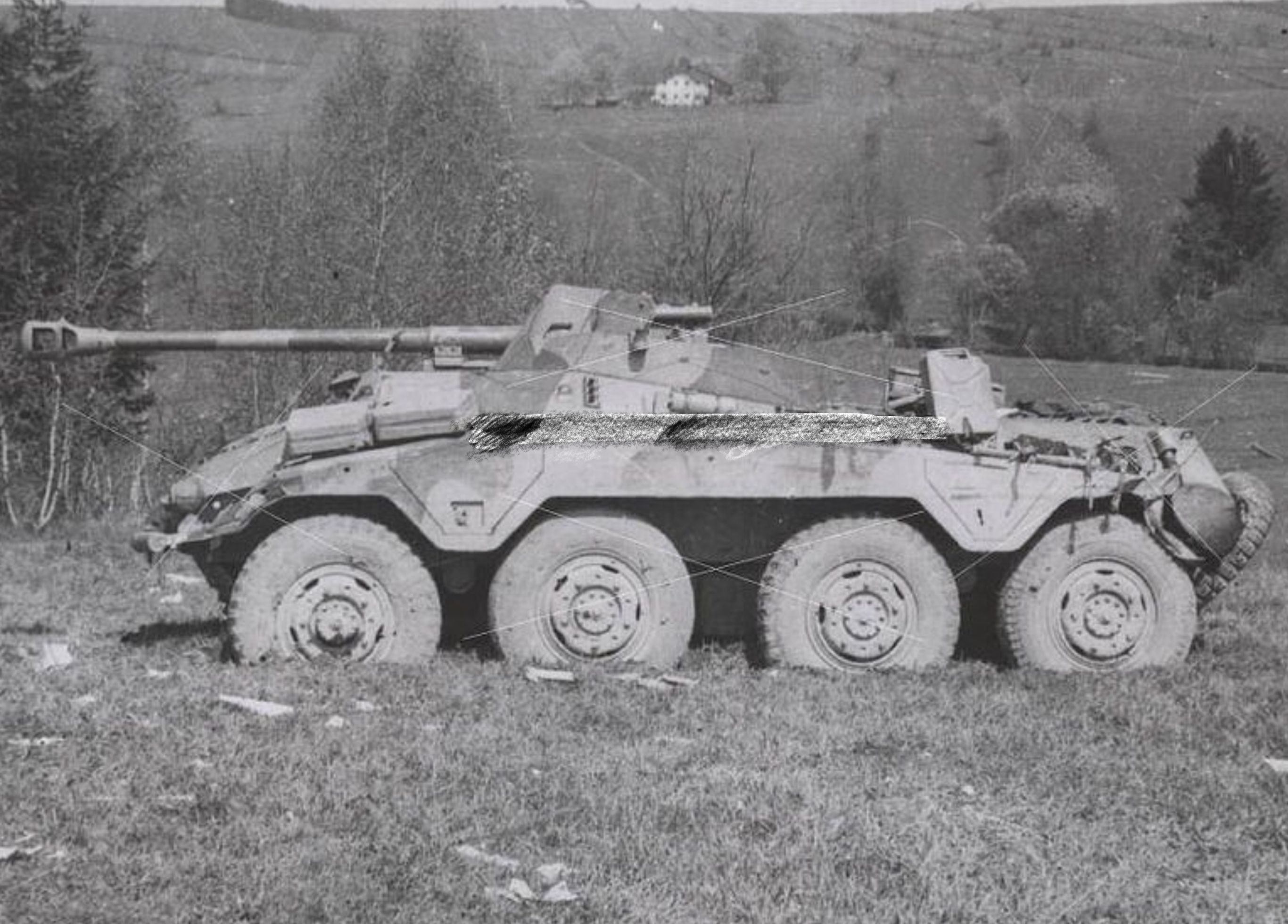 a sdkfz 234 4 armored car with it s 75mm l46 pak 40 gun this was rh pinterest com