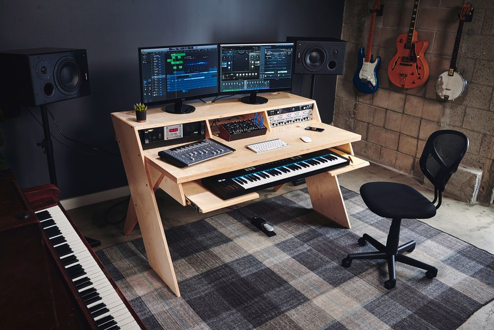 Recording Studio Paint Colors Taffette Designs 5 Essential Complements Of Music Studio Furniture Home Studio Desk Home Studio Setup Studio Desk