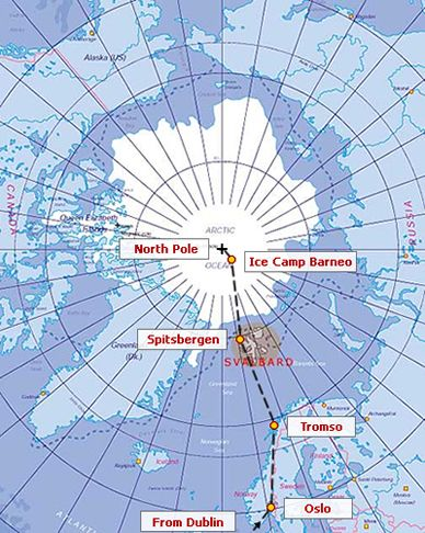 Map Of North Pole  The Arctic Council a new arena for the North