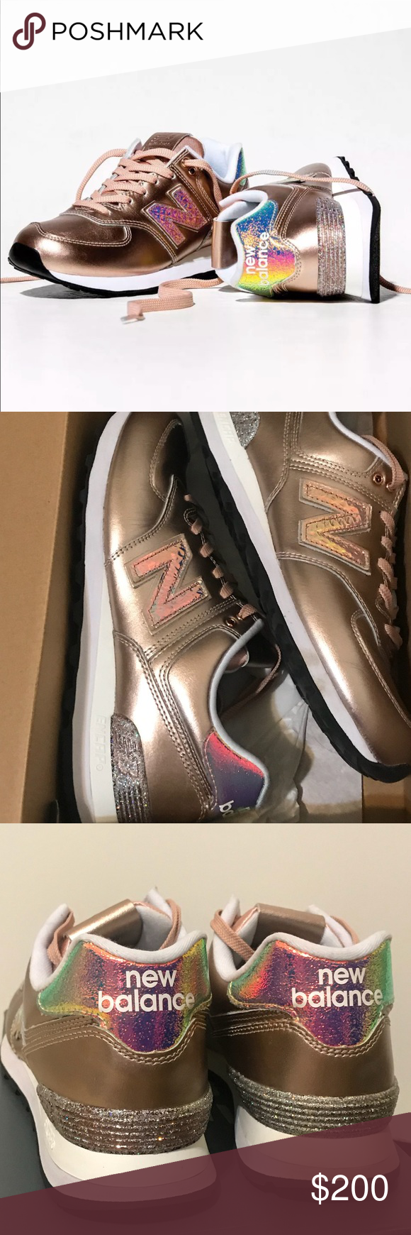 98869dd3a31 Spotted while shopping on Poshmark  New Balance 574 ROSE GOLD LIMITED  EDITION! Glitter!  poshmark  fashion  shopping  style  New Balance  Shoes