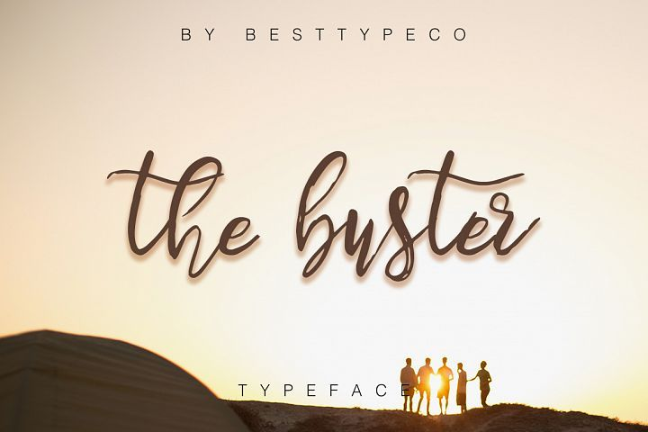 The buster marketing magazine calligraphy fonts and fonts
