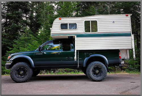 Camper shell on a tacoma  | bad-ass getting away vehicle set