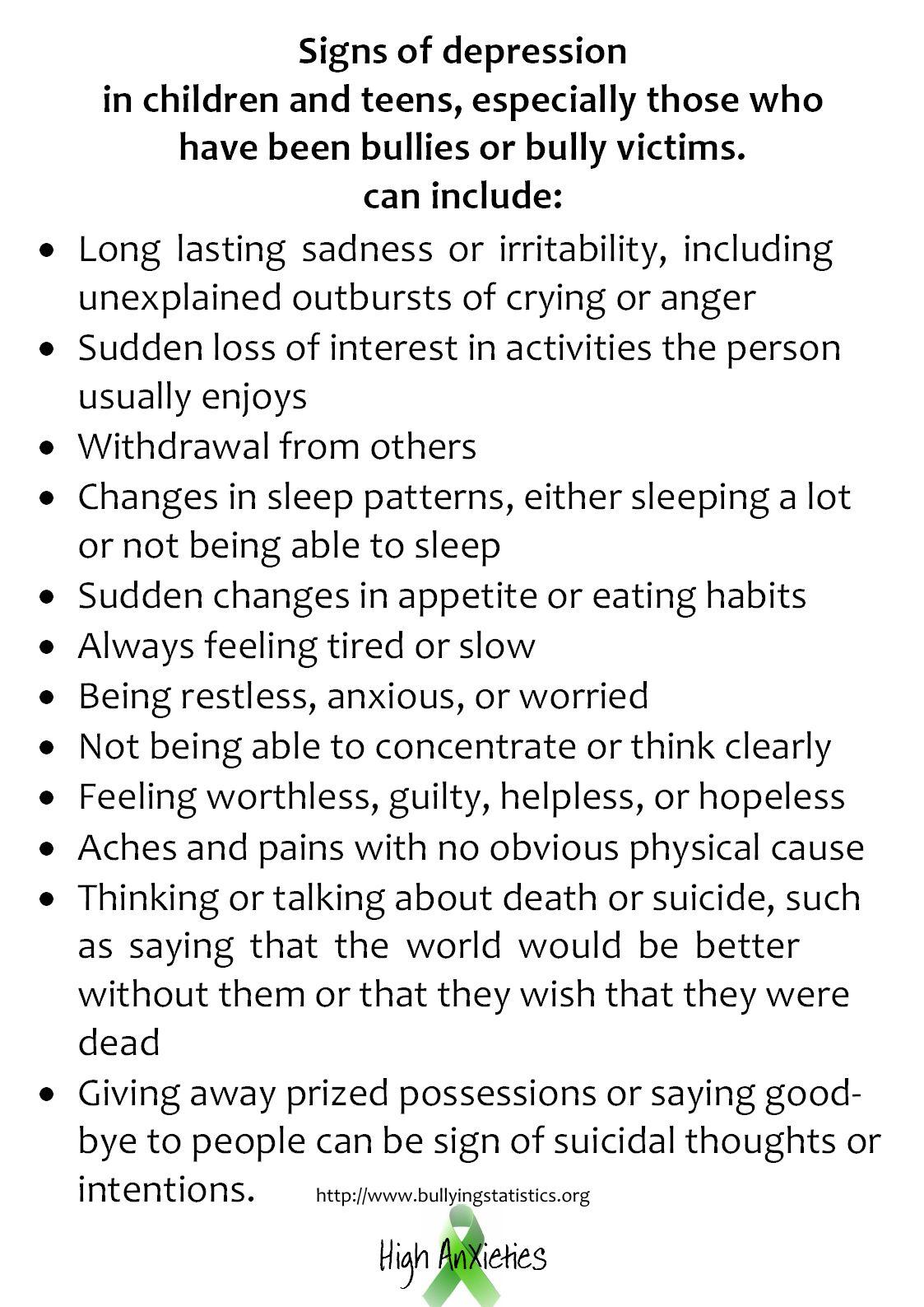 Symptoms of childhood illness