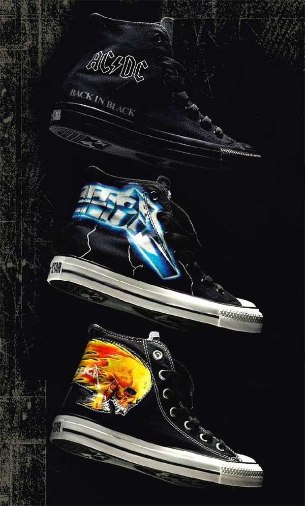 ACDC and Metallica x converse all star highs  24c1914ec