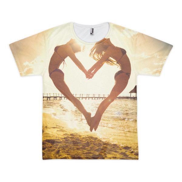 Heart Beach (Jumping Heart Shirt)