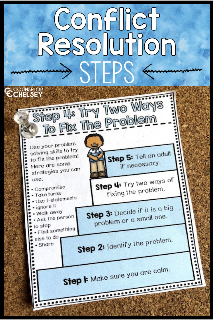 Conflict Resolution Worksheets And Posters Counselor Chelsey Simple School Counseling Ideas Social Skills Lessons Social Skills Conflict Resolution