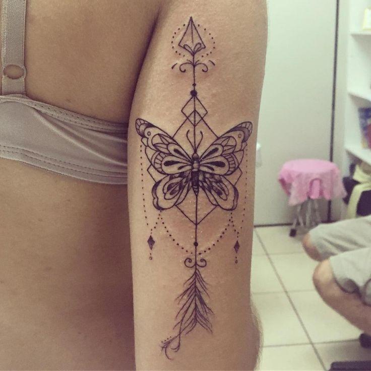 Photo of Arrow butterfly tattoo by gabi.ink 900×900 – 95+ Schöne Schmetterling Tattoos