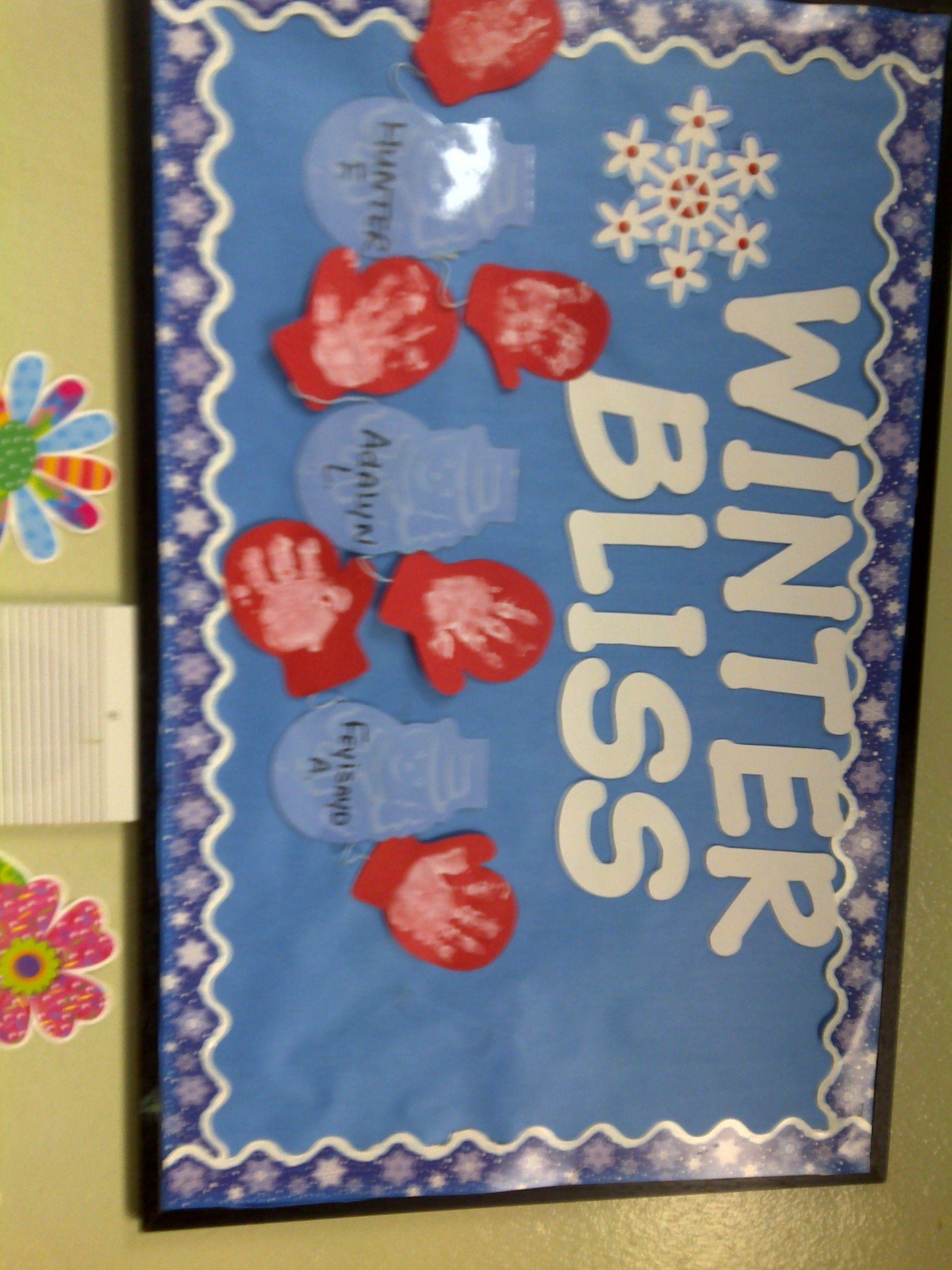 Winter Infant Bulletin Board Infant Bulletin Board Cute Bulletin Boards Door Decorations Classroom