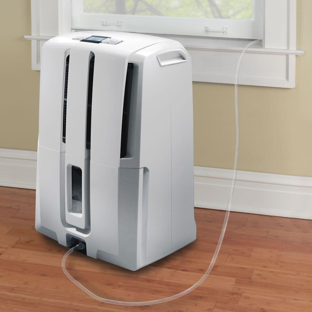 The Self Emptying Dehumidifier Hammacher Schlemmer Dehumidifiers Evaporative Coolers Dehumidifier Basement