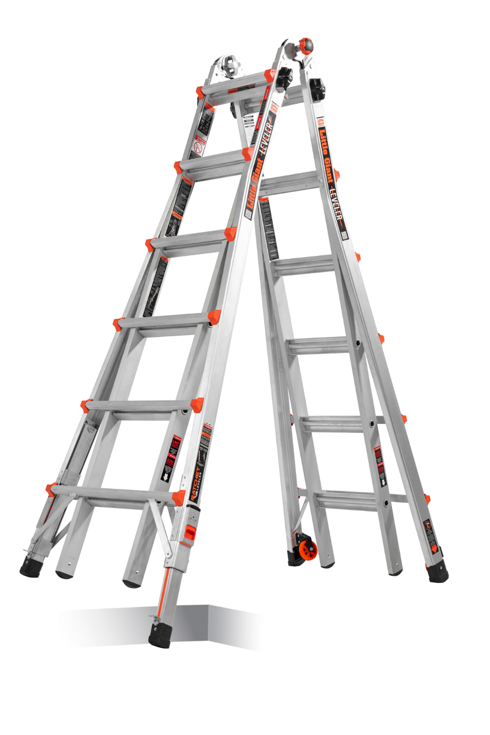 Little Giant Ladders Leveler Aluminum 26 Ft Reach Type 1a 300 Lbs Capacity Telescoping Multi Position Ladder Lowes Com Multi Purpose Ladder Ladder Ladder Leveler