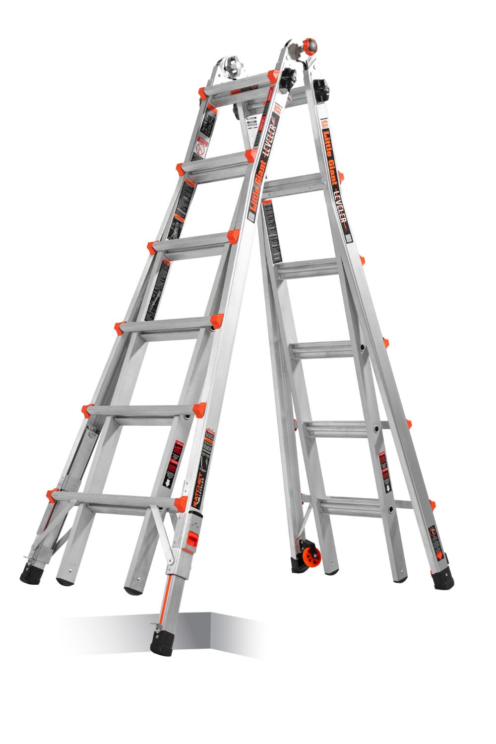Little Giant Ladders Leveler Aluminum 26 Ft Reach Type 1a 300 Lbs Capacity Telescoping Multi Position Ladder Lowes Com Multi Purpose Ladder Ladder Ladder Leveler