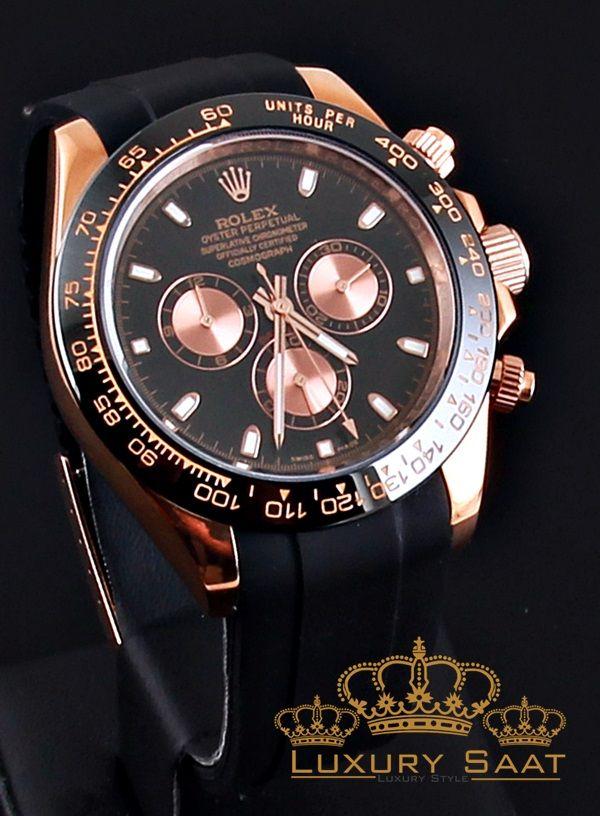 Rolex Day Tona Gold Slikon Rolex Rolex Saatler Erkek Kol Saatleri