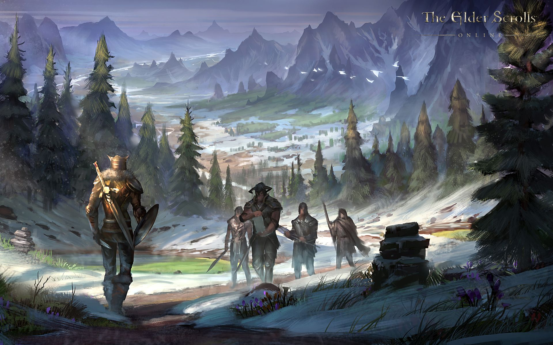 Wallpaper From The Elder Scrolls Online Skyrim Concept Art