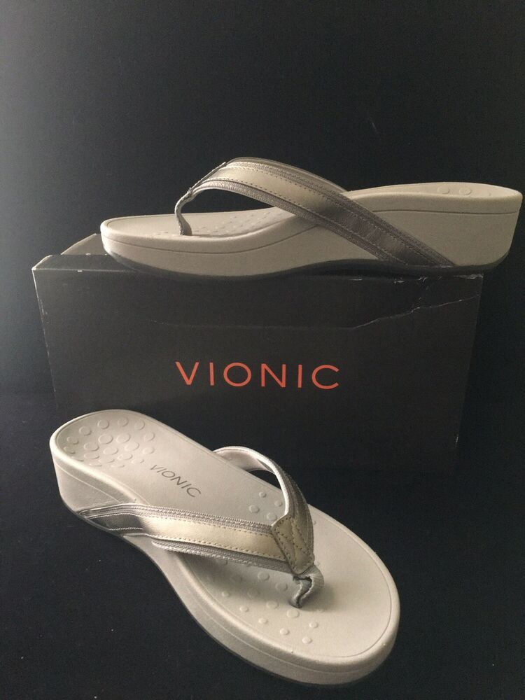 028d9613ec6 Vionic Women s Pacific High Tide Platform Sandal Pewter Size 10 M US  69.99