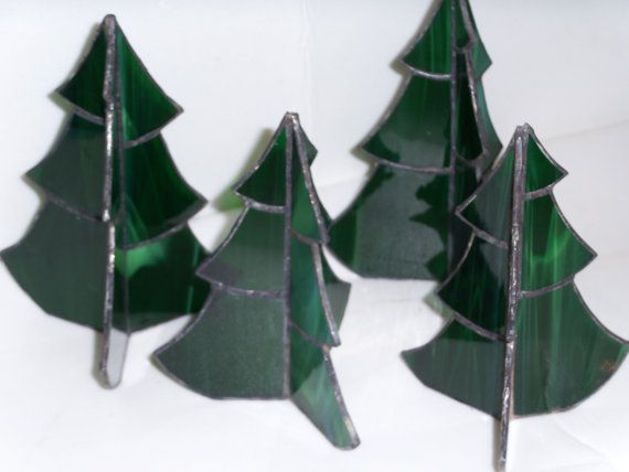 Stained glass Christmas tree by cemstainedglass on Etsy, $15.00
