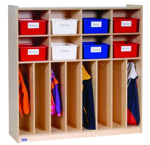 Eight Section Locker Lockers Daycare Shelves Daycare Spaces