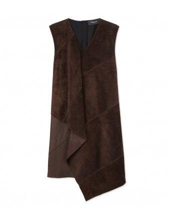 Derek Lam Suede Dress - Shop more fall chic pieces at ShopBAZAAR.com http://shop.harpersbazaar.com/in-the-magazine/how-bazaar-boot-edition/